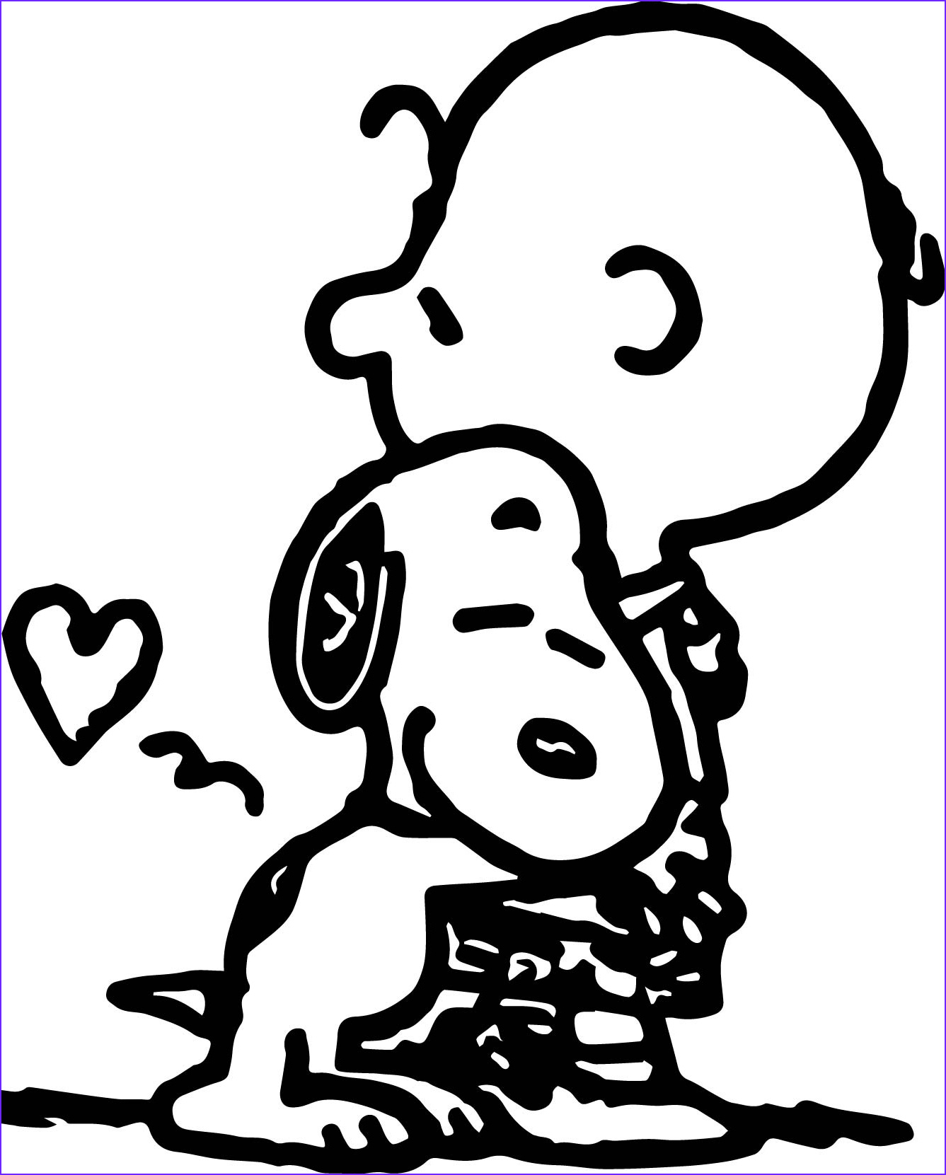 charlie brown snoopy coloring page