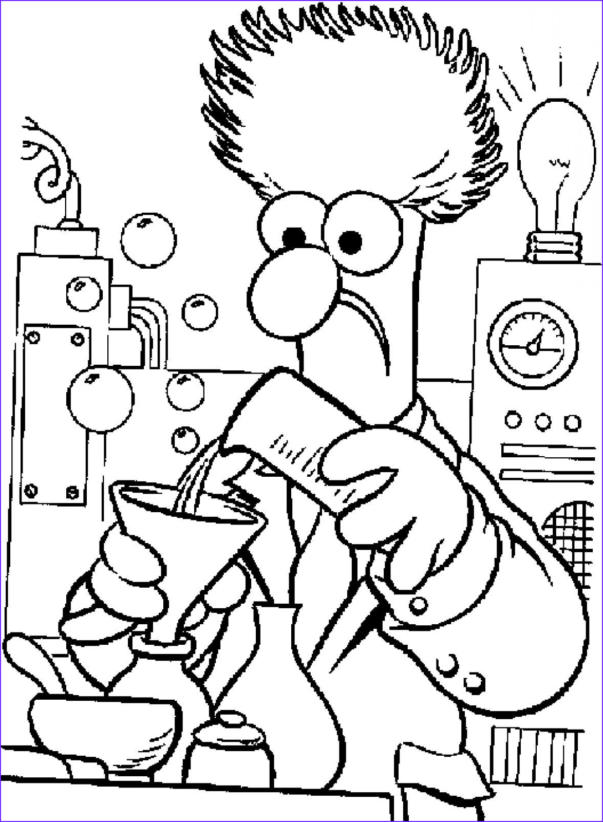 Chemistry Coloring Pages Beautiful Gallery Muppets Chemistry Coloring Chemistry