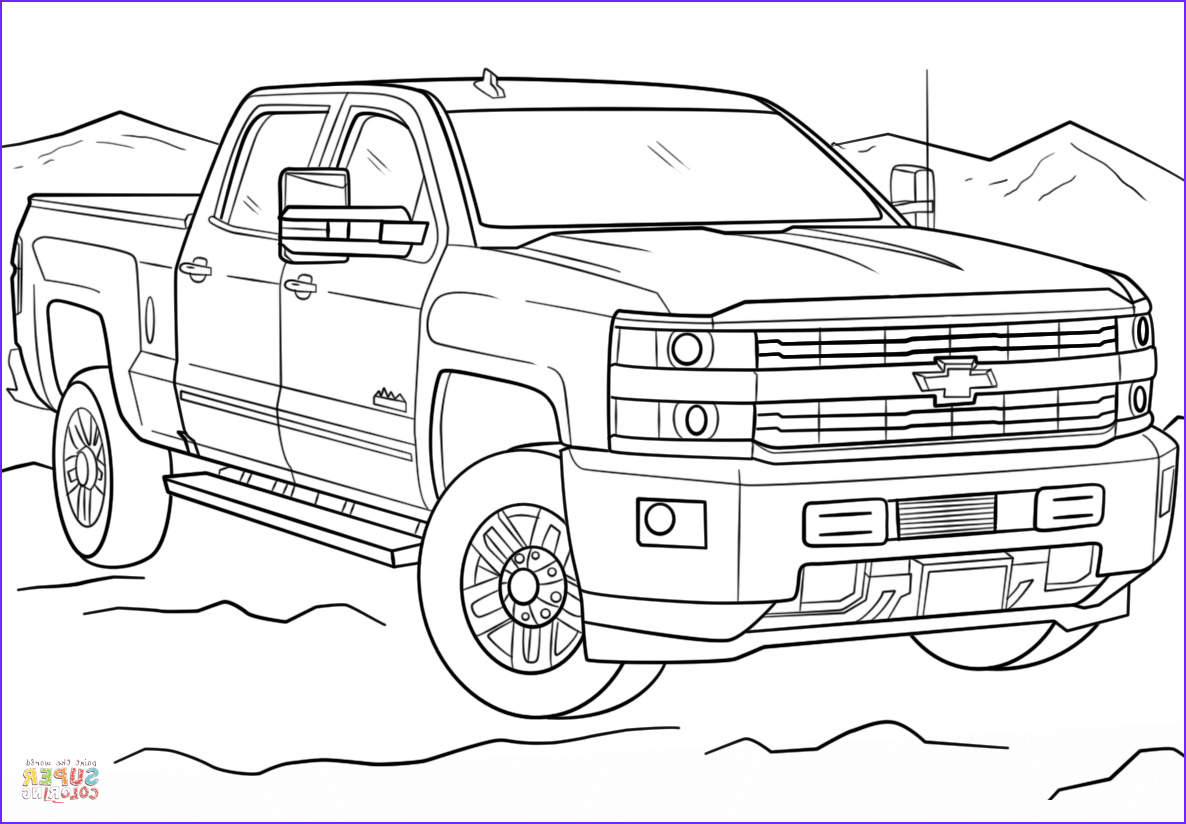 Chevy Coloring Pages Inspirational Stock 2017 Chevrolet Silverado 3500hd High Country Coloring Page