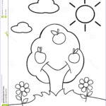 Child Coloring Pages Beautiful Collection Coloring Tree Stock Image Image