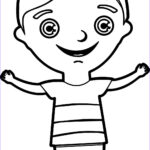 Child Coloring Pages Beautiful Image Happy Kids Boy Coloring Page