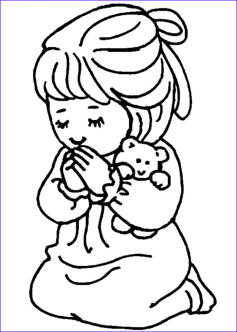 Childrens Coloring Pages Awesome Stock Children Praying Coloring Page