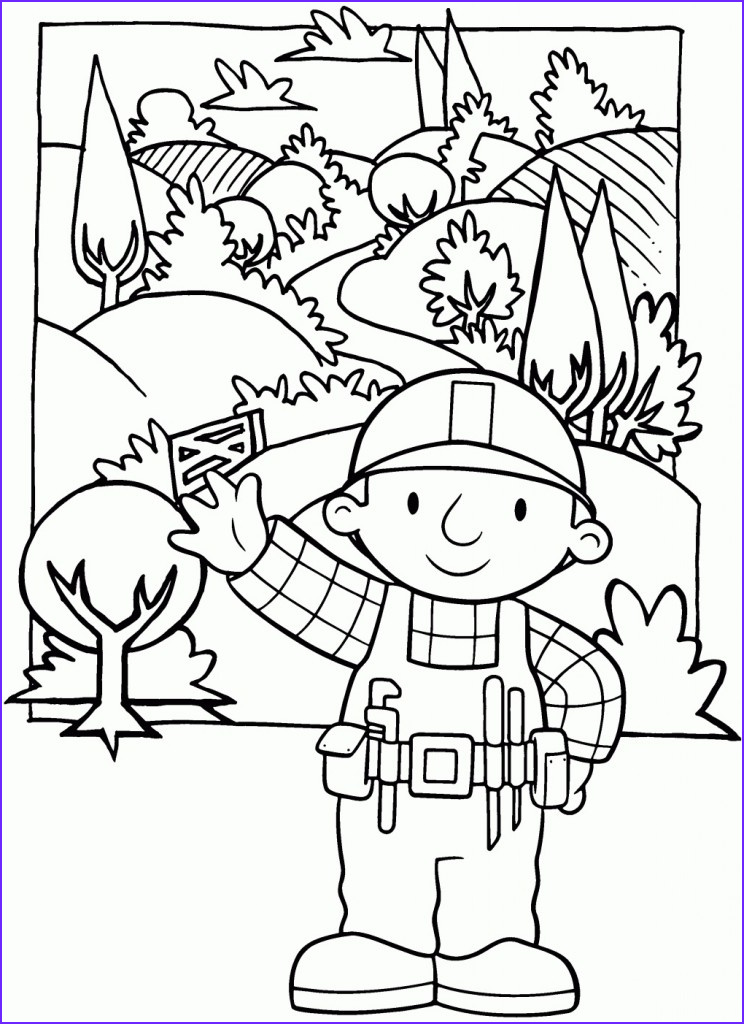 Childrens Printable Coloring Pages Elegant Gallery Free Printable Bob the Builder Coloring Pages for Kids