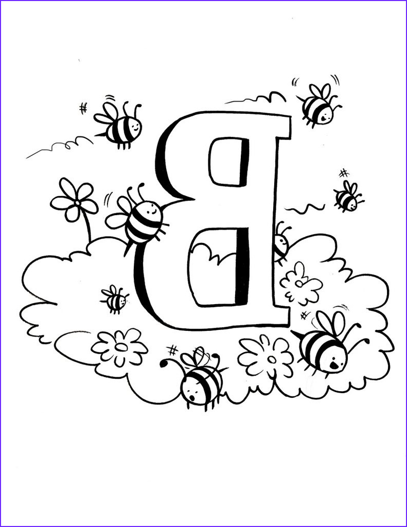 Childrens Printable Coloring Pages Inspirational Image Free Printable Bee Coloring Pages for Kids
