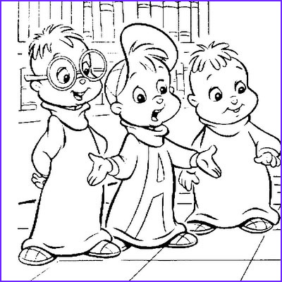 Chipmunk Coloring Pages Best Of Gallery Alvin and the Chipmunks Coloring Pages