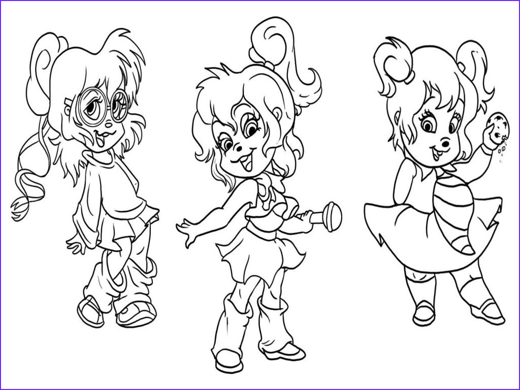 Chipmunk Coloring Pages Unique Photography Free Printable Chipettes Coloring Pages for Kids