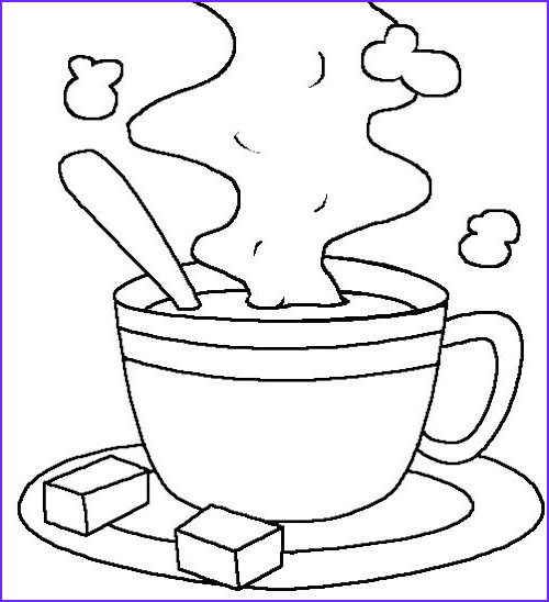 Chocolate Coloring Beautiful Photos Hot Cocoa Milk Coloring Page