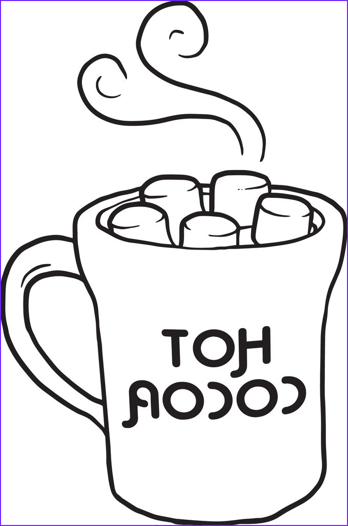 cup of hot cocoa coloring page a4223