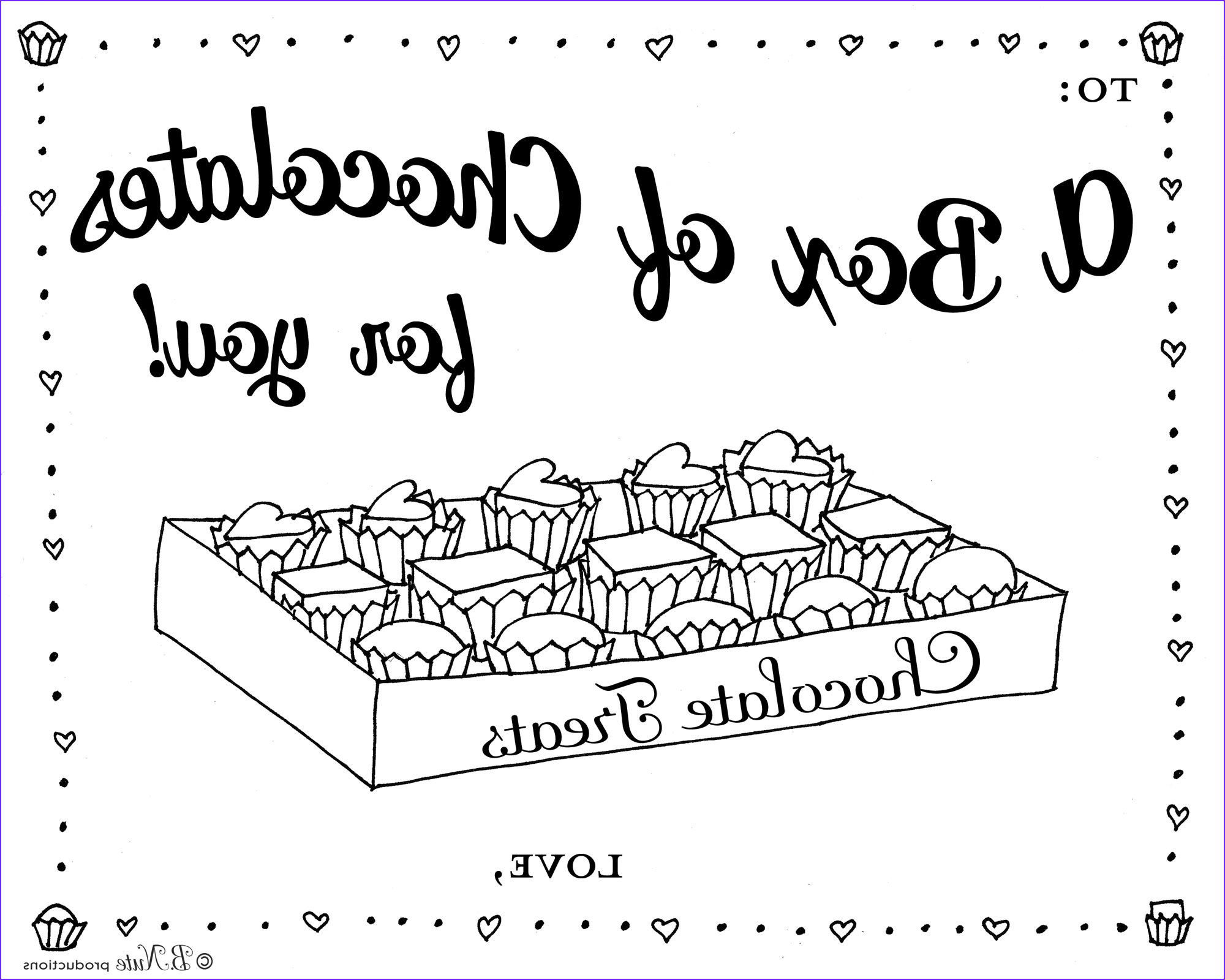 box of chocolates coloring page