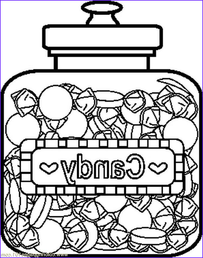 candyjar5bw coloring page