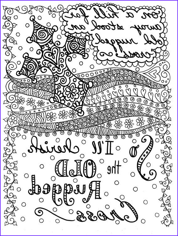 Christian Adult Coloring Books Awesome Image Hymn Spirations 3 to Color Instant S You Be the