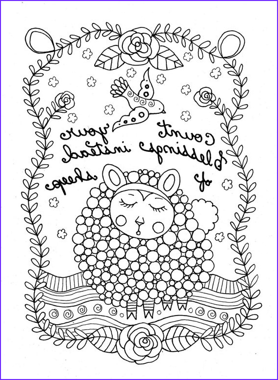 printable coloring page count sheep