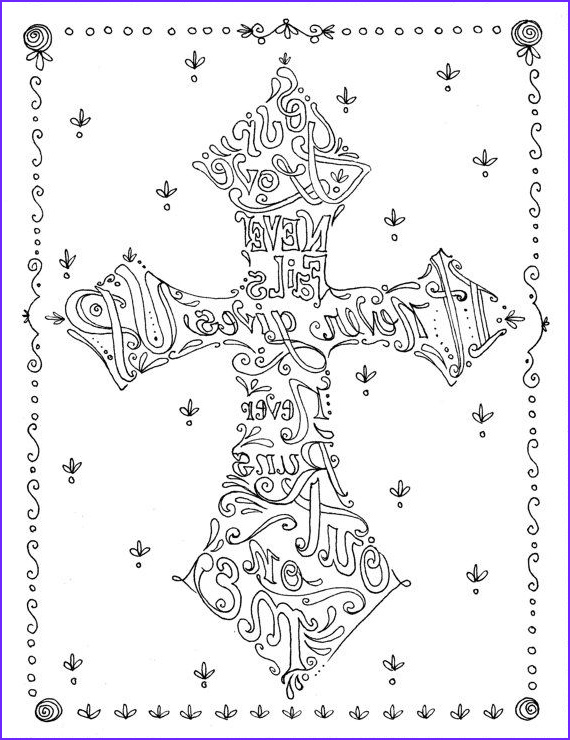Christian Coloring Pages for Adults Beautiful Image Coloring Book Of Crosses Christian Art to Color and Create