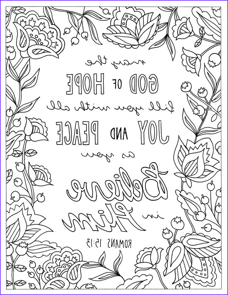 Christian Coloring Pages for Adults Unique Collection God Of Hope Coloring Page Romans 15 13 Printable