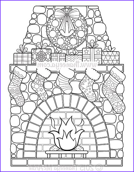 Christmas Adult Coloring Beautiful Collection Christmas Coloring Book By Thaneeya Mcardle — Thaneeya