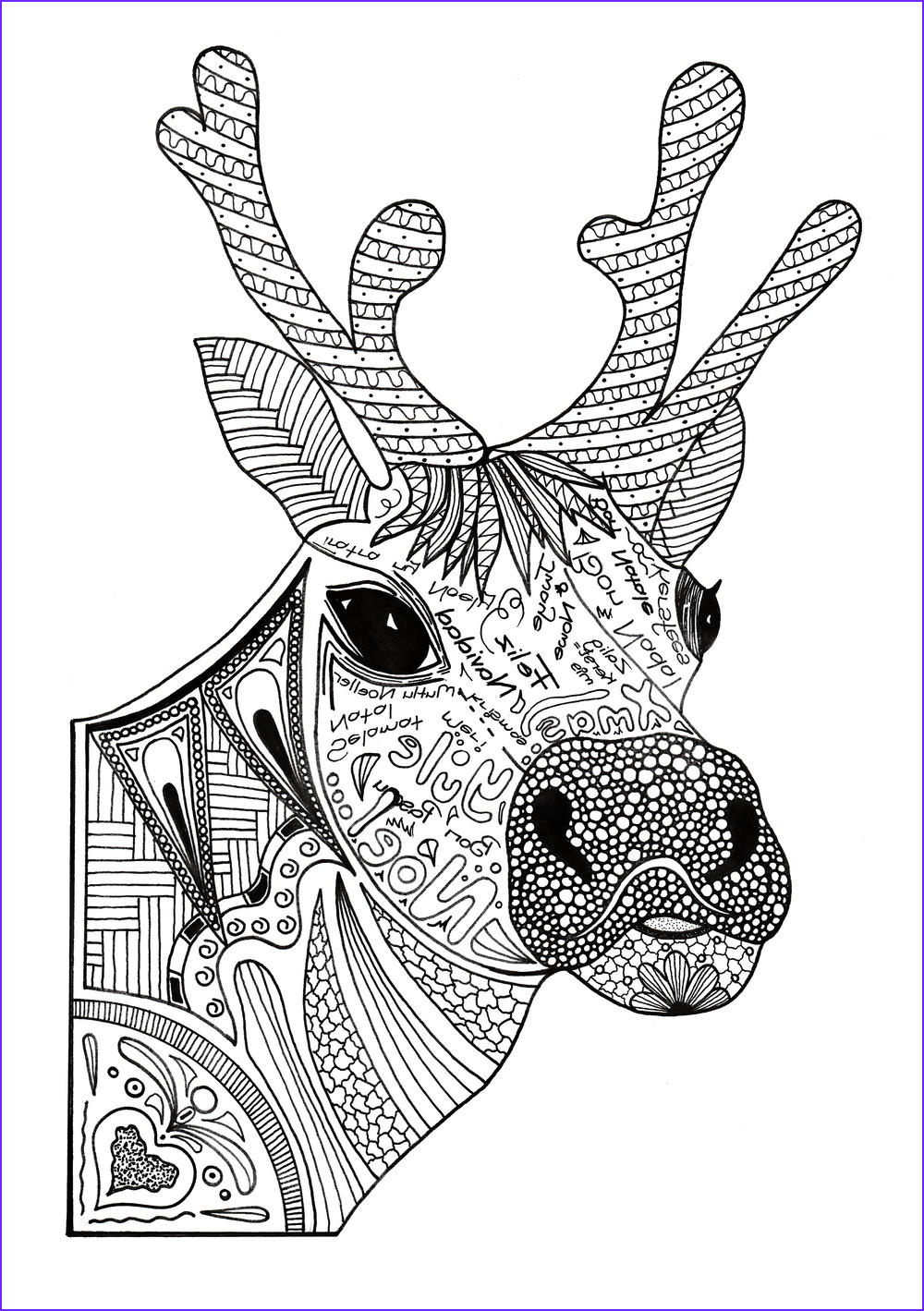 Christmas Adult Coloring Best Of Photos Christmas Reindeer Adult Coloring Page