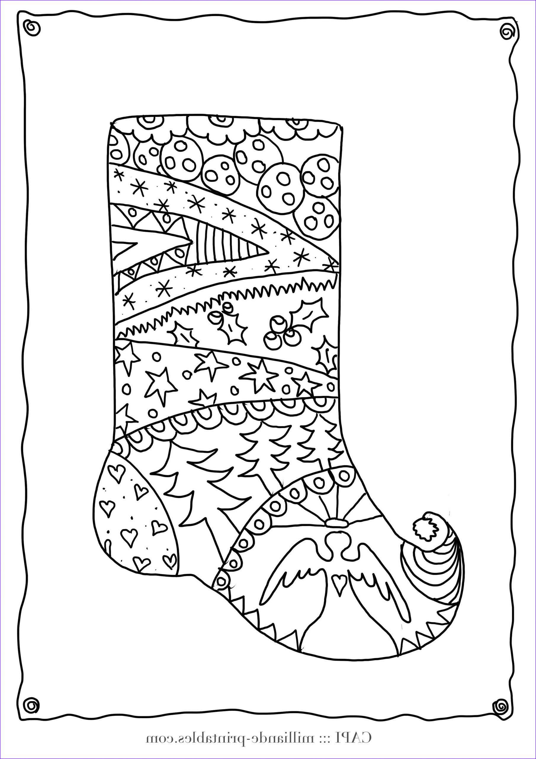 Christmas Adult Coloring Best Of Photos Christmas Stocking To Color Free Printable Christmas