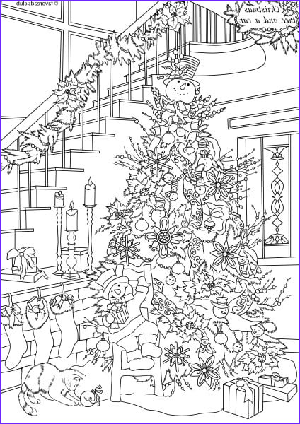 Christmas Adult Coloring Books Beautiful Images Cats and Dogs Christmas Tree Printable Adult Coloring