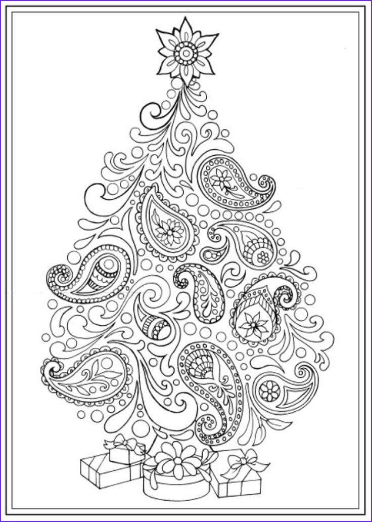 Christmas Adult Coloring Books Beautiful Stock 14 Best Adult Coloring Pages Christmas Trees Images On