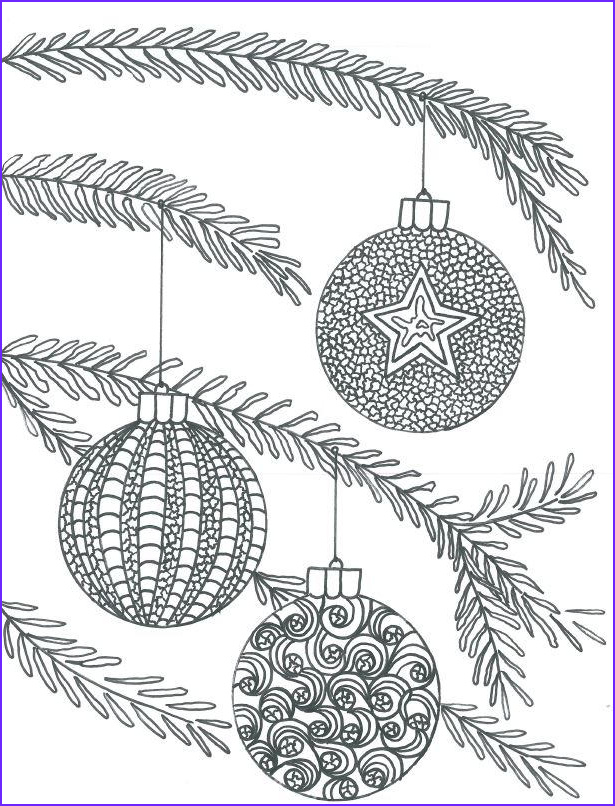 Christmas Adult Coloring Cool Gallery Christmas Baubles Adult Coloring Page