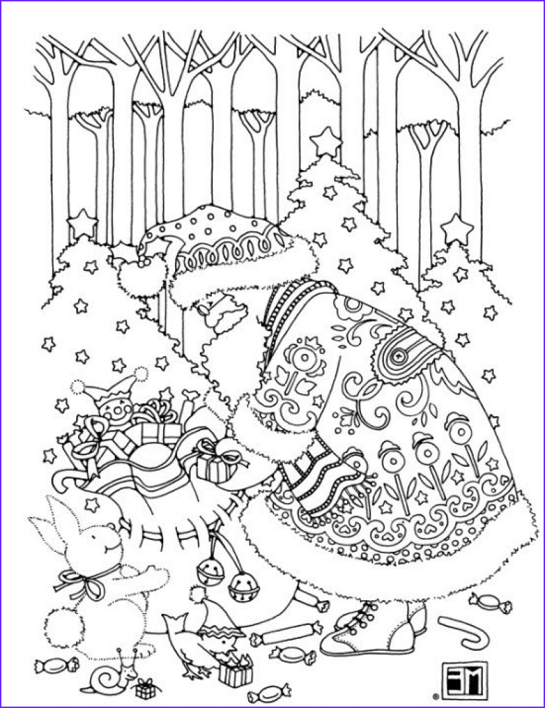 Christmas Adult Coloring Cool Images Christmas Coloring Pages For Adults Best Coloring Pages