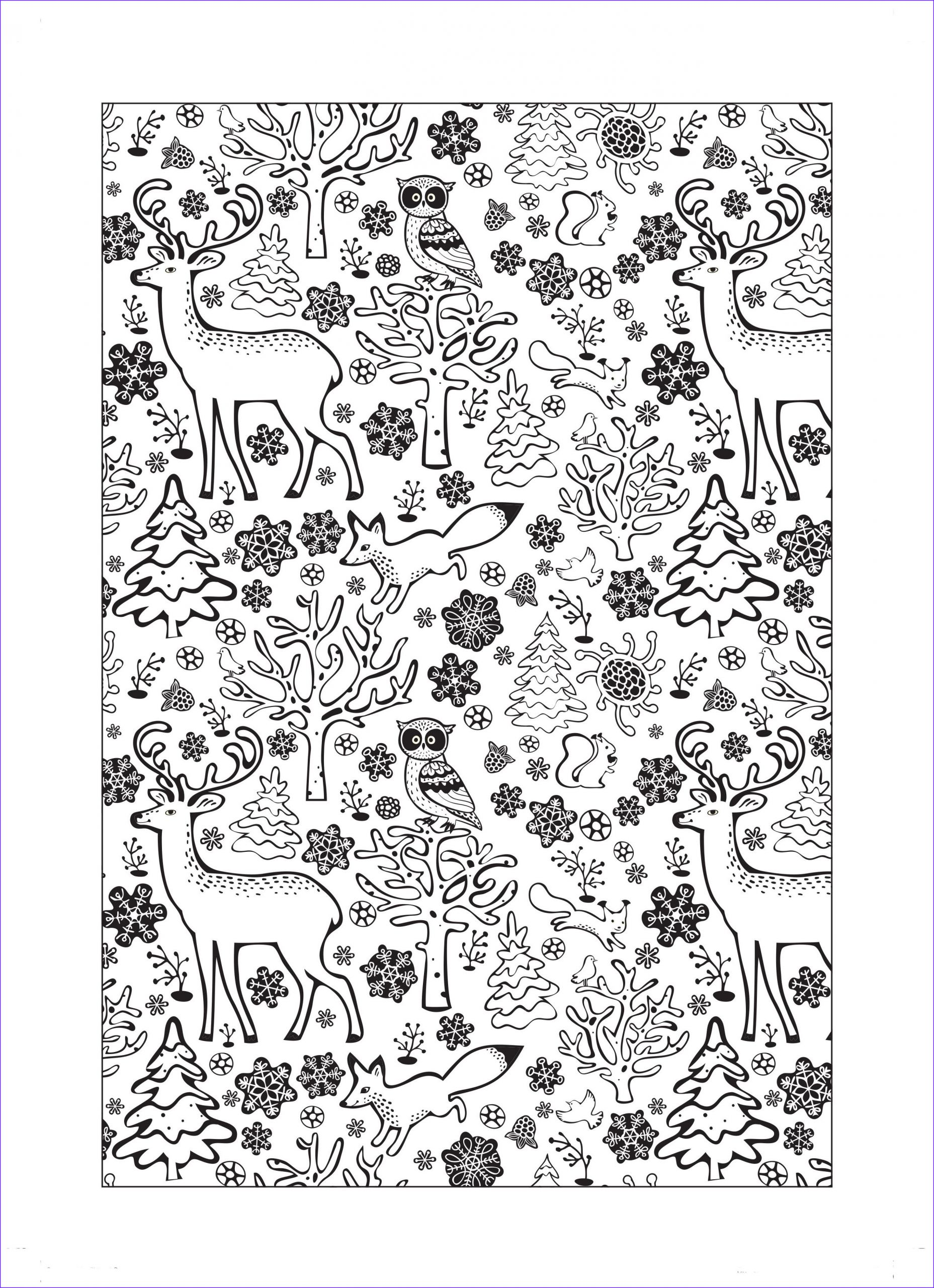 Christmas Adult Coloring Elegant Images Walk In A Winter Wonderland With This Gorgeous Free