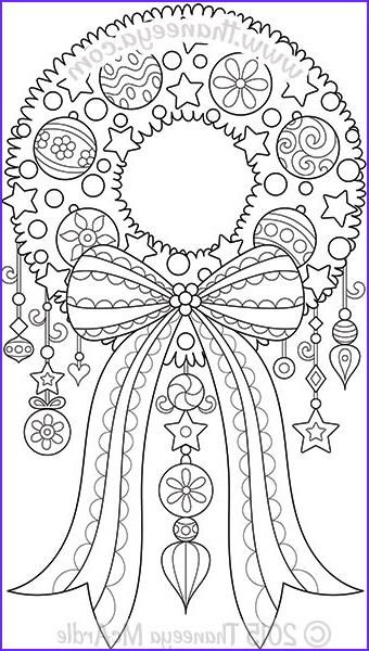 Christmas Adult Coloring Inspirational Images Color Christmas Coloring Book By Thaneeya Mcardle