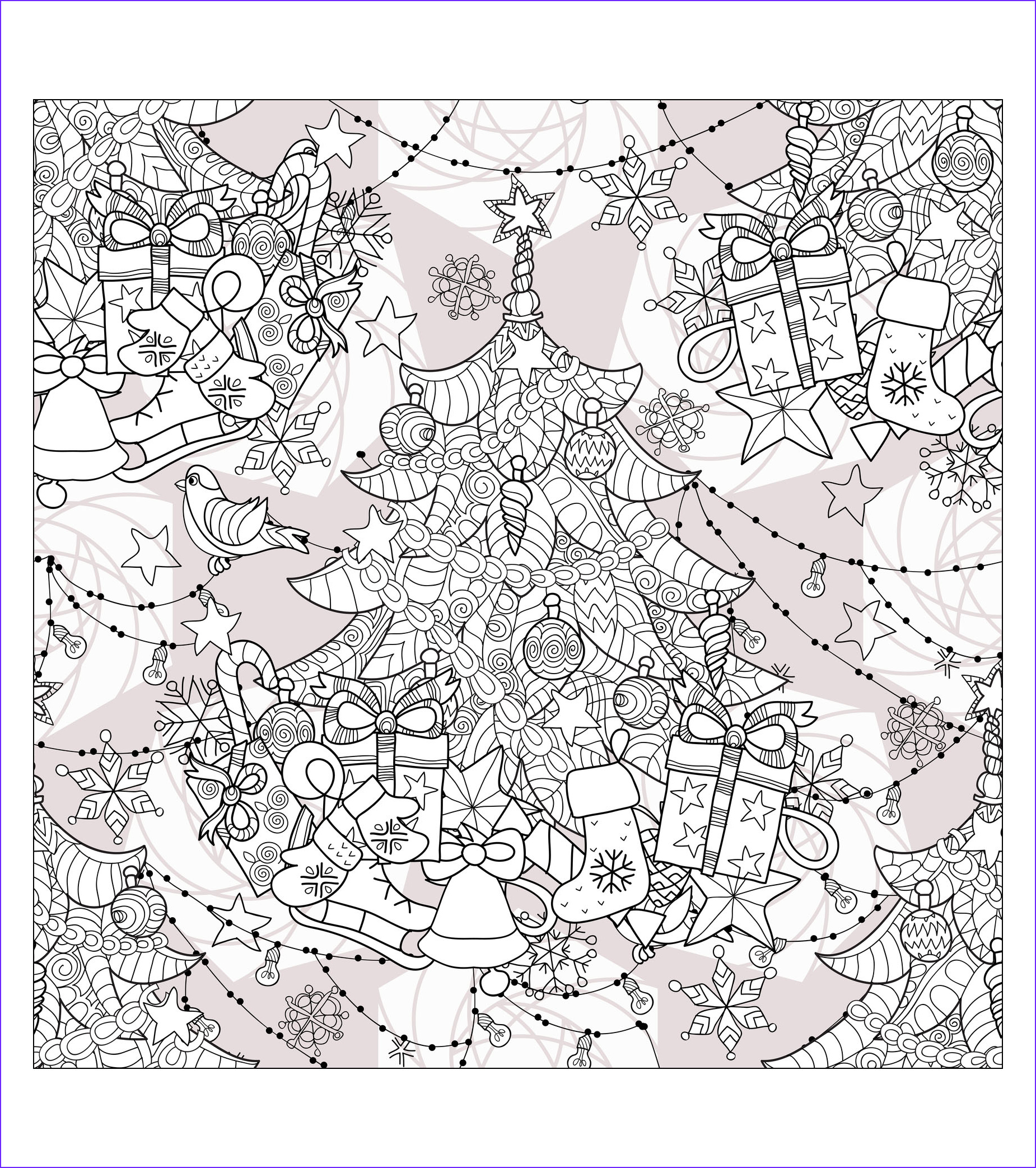 Christmas Adult Coloring Pages Awesome Photos Christmas Tree Christmas Adult Coloring Pages