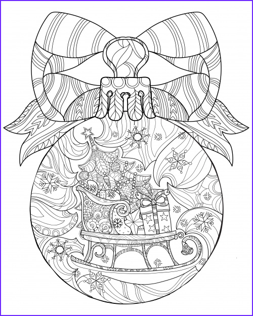 Christmas Adult Coloring Pages Best Of Image Christmas Coloring Anti Stress therapy 19