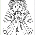Christmas Angel Coloring Pages Beautiful Images 60 Best Images About Angel Color Pages 1 On Pinterest