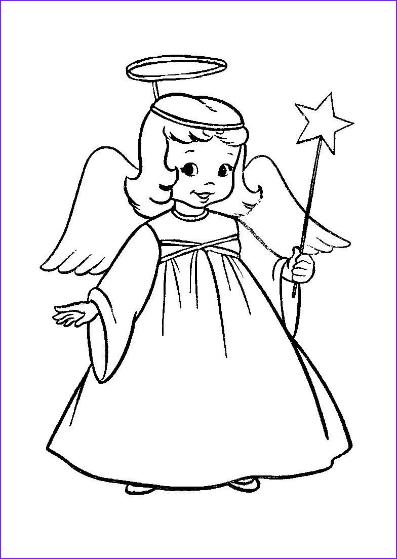 Christmas Angel Coloring Pages Cool Photos Christmas Angel Coloring Pages