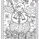 Christmas Coloring For Adults Beautiful Collection Snow Angel Instant Christmas Coloring Page Holidays