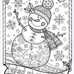 Christmas Coloring For Adults Beautiful Image Snowman Coloring Page Chubby Christmas Adult Color