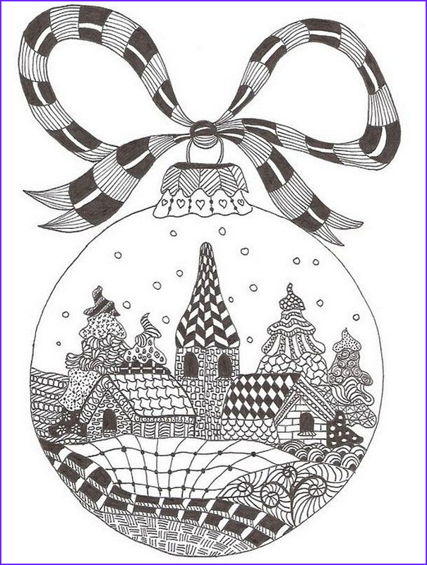 Christmas Coloring for Adults Best Of Image Winter Wonderland Holiday ornament Zentangle