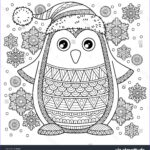 Christmas Coloring For Adults Best Of Photography Merry Christmas Jolly Penguin The Detailed Coloring