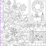 Christmas Coloring For Adults Elegant Collection Christmas Adult Coloring Page