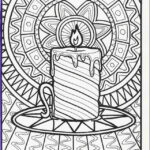 Christmas Coloring For Adults Inspirational Gallery Christmas Adults Candle Coloring Pages Printable