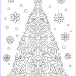 Christmas Coloring For Adults Luxury Images Christmas Tree Adult Coloring Page