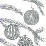 Christmas Coloring For Adults Unique Photos Christmas Baubles Adult Coloring Page