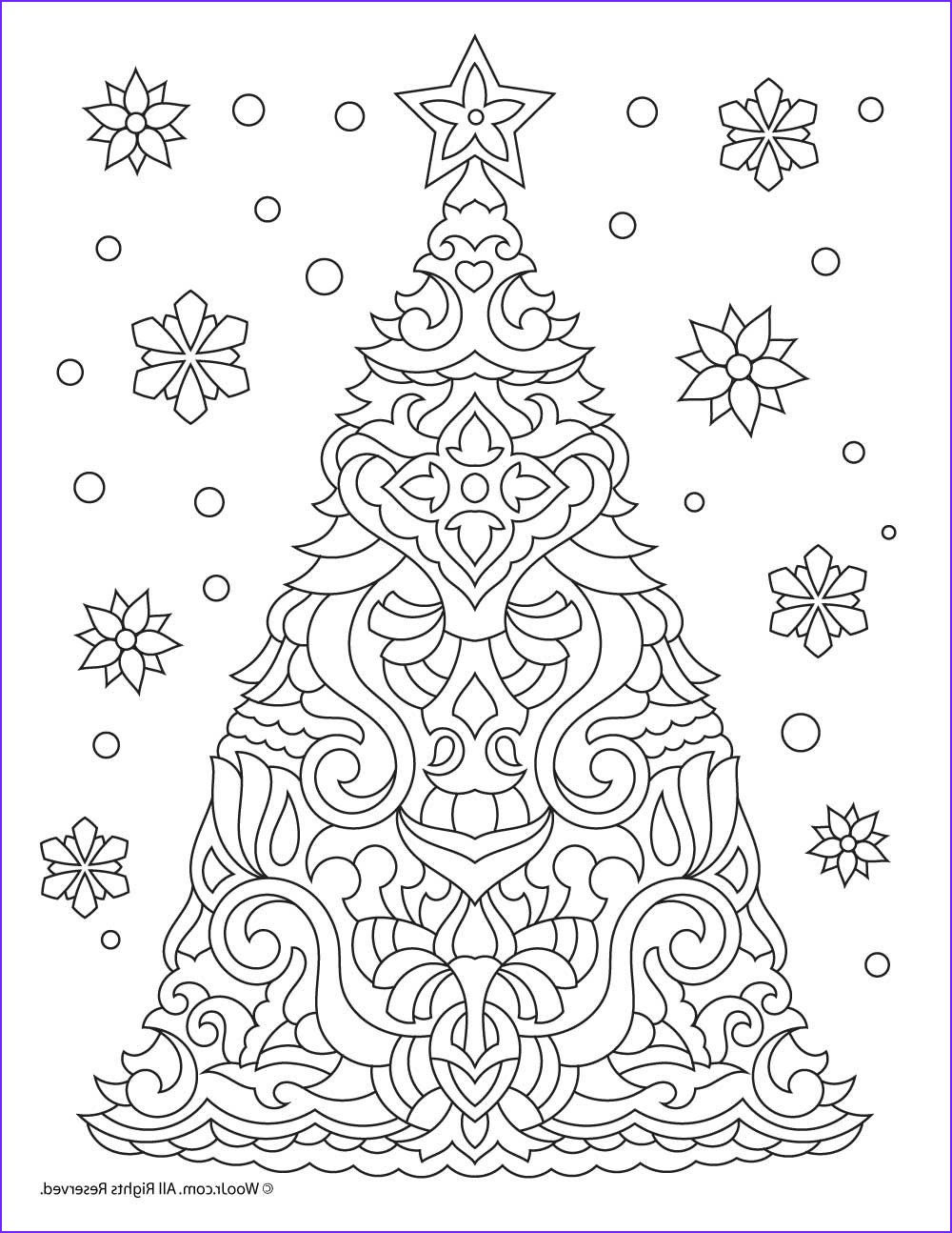 Christmas Coloring Pages Adults Awesome Photos Christmas Tree Adult Coloring Page