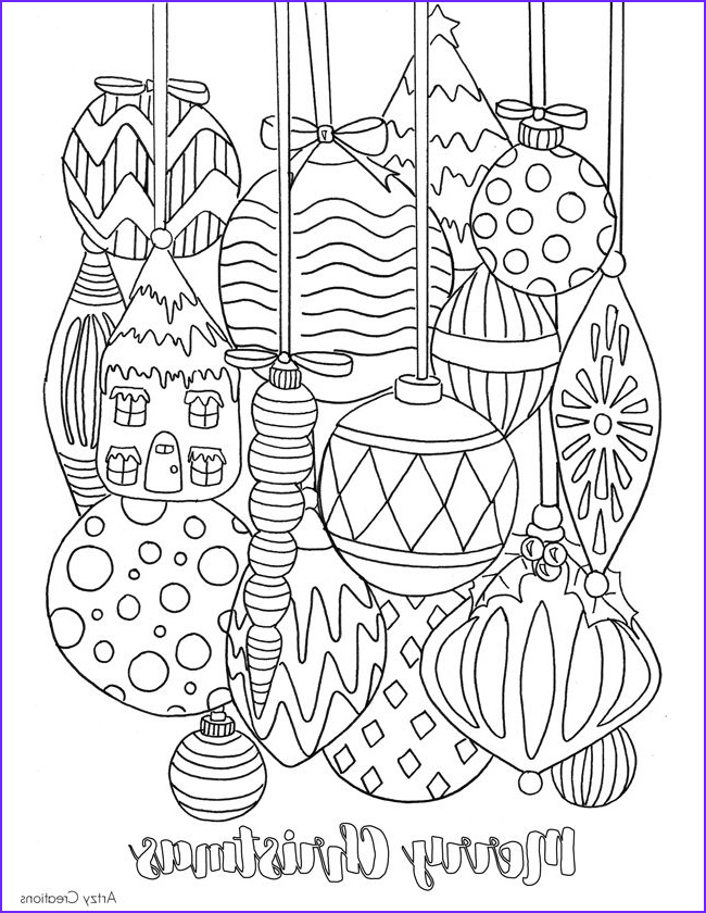 Christmas Coloring Pages Adults Cool Collection Free Christmas ornament Coloring Page