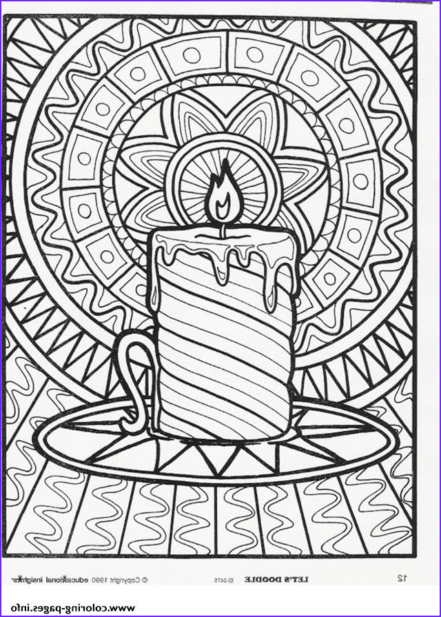 christmas adults candle printable coloring pages book