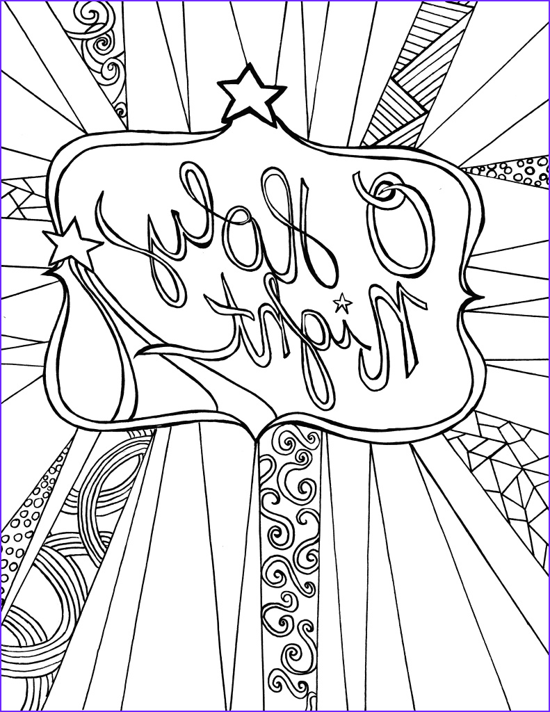 Christmas Coloring Pages Adults Luxury Collection O Holy Night Free Adult Coloring Sheet Printable