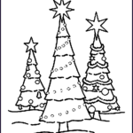 Christmas Coloring Pages Awesome Photos Free Printable Christmas Tree Coloring Pages For Kids