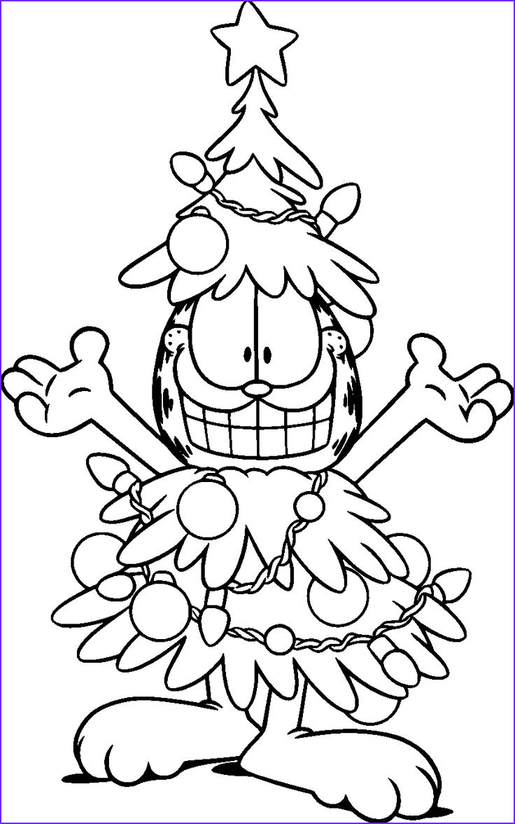Christmas Coloring Sheets Beautiful Images Free Garfield the Cat Coloring Pages for Kids