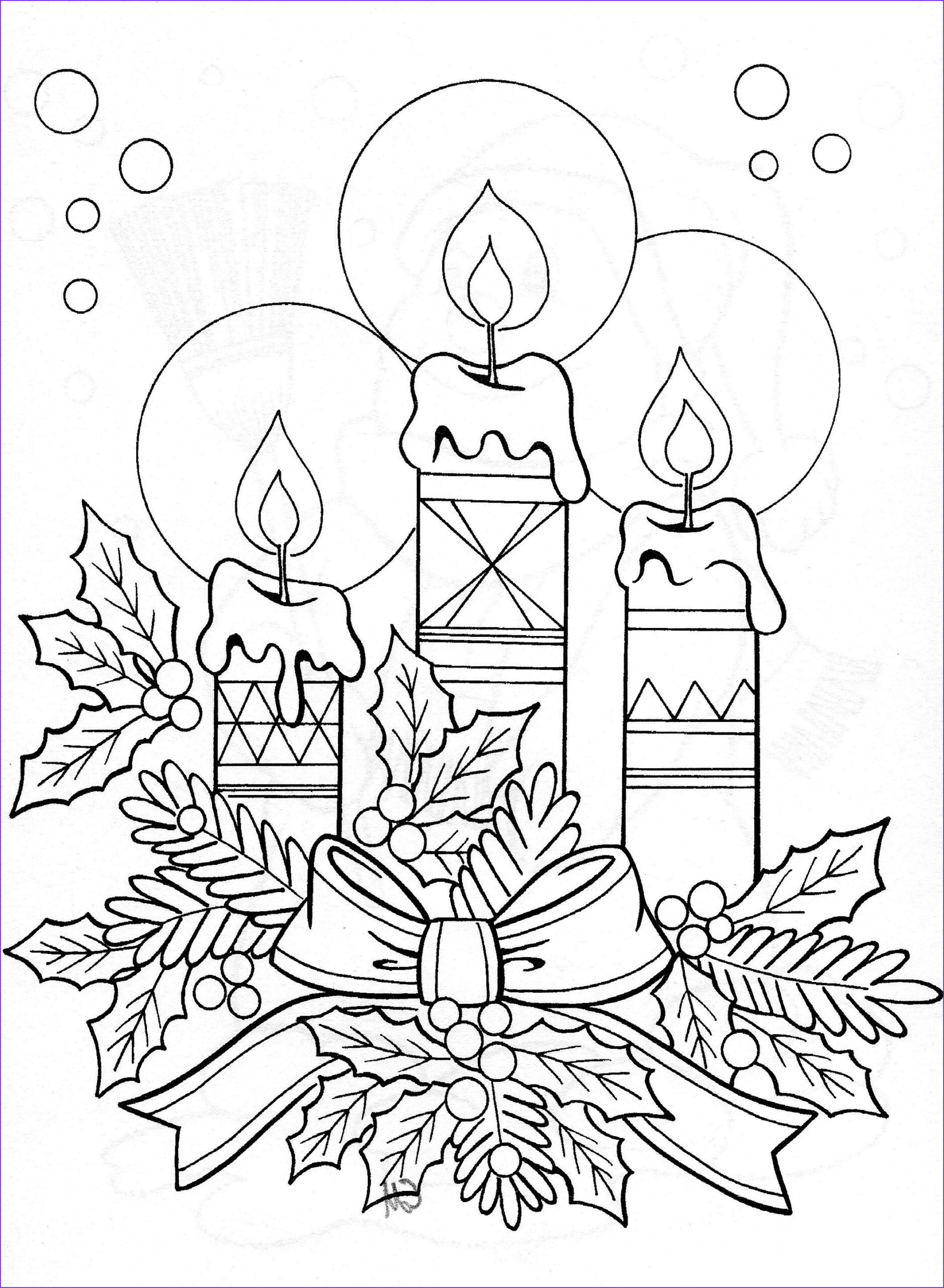 Christmas Coloring Sheets Inspirational Photos Drawing Of Candle Arrangement Christmas