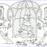 Christmas Tree Coloring Pages For Adults Awesome Collection Cats Bluebison