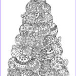 Christmas Tree Coloring Pages For Adults Awesome Stock Christmas Coloring Book A Stress Management Coloring Book