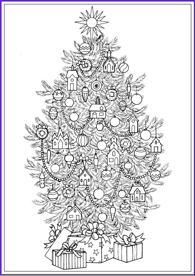 Christmas Tree Coloring Pages for Adults Beautiful Collection Creative Haven Christmas Trees Coloring Book by Barbara