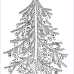 Christmas Tree Coloring Pages For Adults Beautiful Image 2016 Christmas Advent Calendar Coloring Pages For Adults